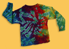 long sleeve tie dye T-shirt